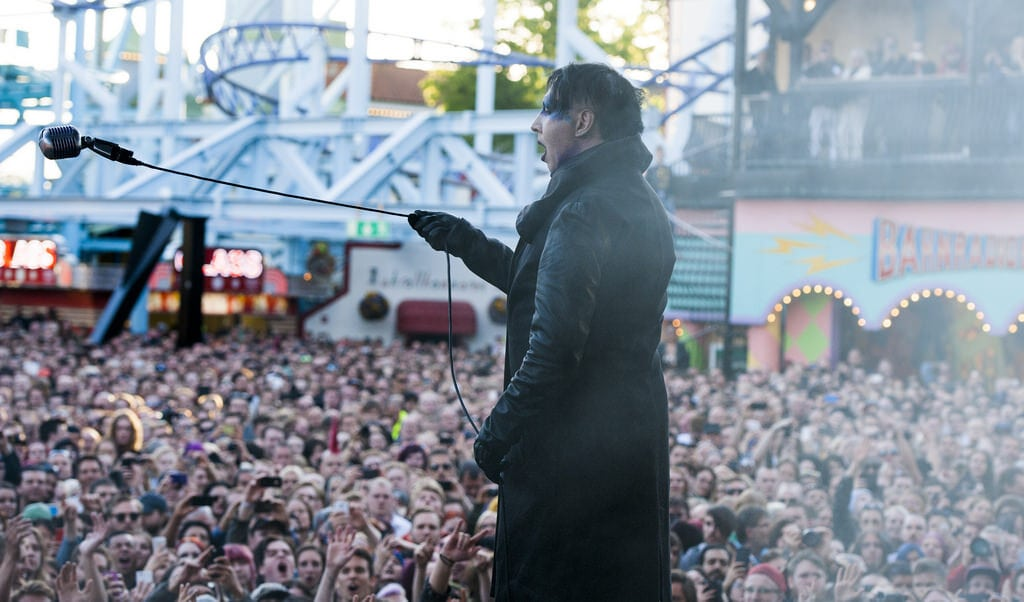 Marilyn Manson på Gröna Lund Stockholm 2018 6 juni